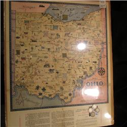 """Being a Cartograph of Ohio"" Published in 1933 by the Ohio Commission to A Century of Progress Inter"