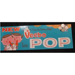 "Colorful Advertising sign ""New Fun in Every Bite! Ueebo Twin Pop""; 1899 P, 1902 O, 03 P, & 04 O U.S."