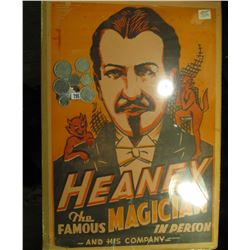 "13"" x 19.5"" Poster ""Heaney The Famous Magician In Person and his Company"", 'Doc' valued this at $125"