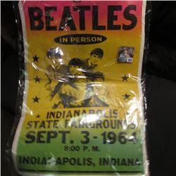 "Poor shape but Rare Poster ""The Beatles in Person Indianapolis State Fairground Sept. 3-1964 8:00 P."