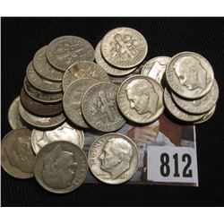 (22) Various date Silver Roosevelt Dimes, circulated.