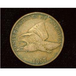 1857 U.S. Flying Eagle Cent, VF.