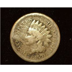 1859 Copper-nickel Indian Head Cent, AG-G.