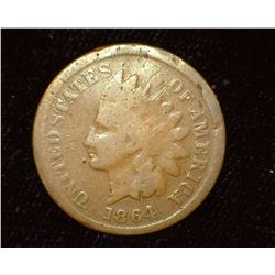 1864 L Indian Head Cent, Good.