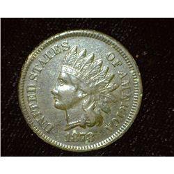 1878 Indian Head Cent, VF-EF, Dark toned.