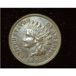 1884 Indian Head Cent, EF.