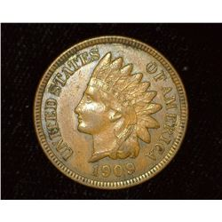 1909 Indian Head Cent, Brown Almost Unc.