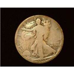 1917 Obverse D Walking Liberty Half-Dollar, G.