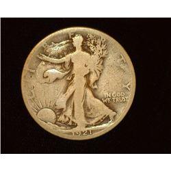 1921 S Walking Liberty Half-Dollar, G.
