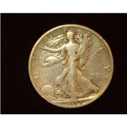 1933 S Walking Liberty Half-Dollar, VG.