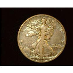 1935 S Walking Liberty Half-Dollar, VF.