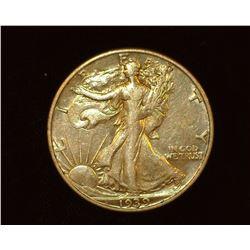 1939 D Walking Liberty Half-Dollar, EF.