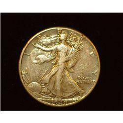 1940 P Walking Liberty Half-Dollar, EF.