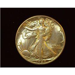 1940 S Walking Liberty Half-Dollar, Uncirculated.
