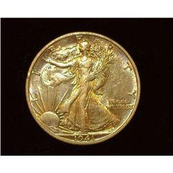 1941 S Walking Liberty Half-Dollar, AU.