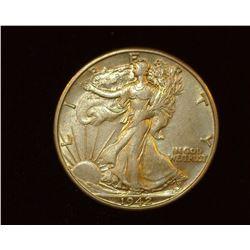 1942 D Walking Liberty Half-Dollar, AU.