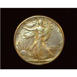 1943 D Walking Liberty Half-Dollar, AU.