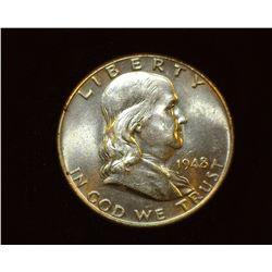 1948 P Franklin Half Dollar, BU.