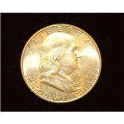 1948 D Franklin Half Dollar, BU.