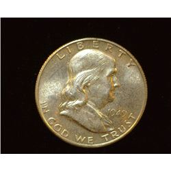 1949 S Franklin Half Dollar, AU.