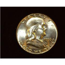 1955 P Franklin Half Dollar, BU.