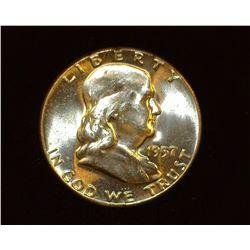 1957 P Franklin Half Dollar, BU.