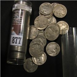 (62) Old U.S. Buffalo Nickels in plastic tubes.