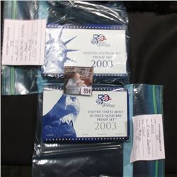 2003 S U.S. State Quarter Proof Set in original box & a complete 2003 S U.S. Proof Set in original b