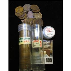 (30) 1913 P & (50) 1930 D Lincoln Cents in a plastic tubes, grades average G-VG.