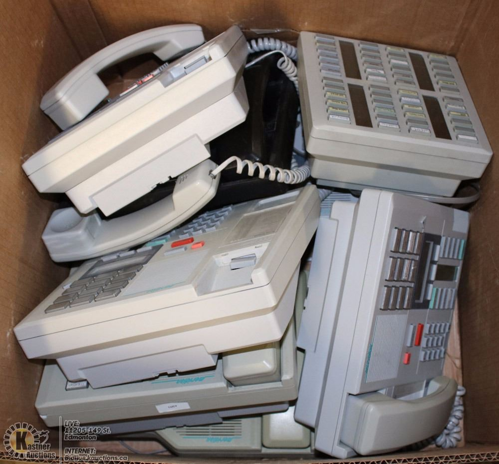 Box Of 7 Meridian Office Phones Includes A
