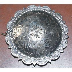 2  silver concho barrette