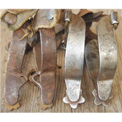 Boone etched spurs & Crockett iron spurs