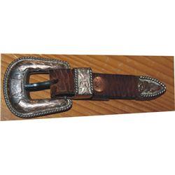 nice silver ranger buckle set