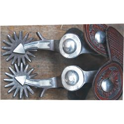 Crockett overlaid arrow shank spurs