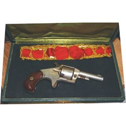ladies boxed set - Defiance 1870's .32 revolver and early garter
