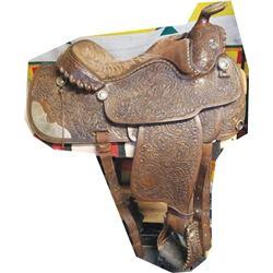 Rodeo Custom Shop, Spanaway, WA full tooled saddle