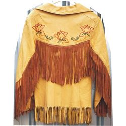 very nice beaded and fringes leather coat
