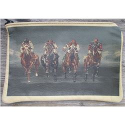 nice unique horse race leather bag