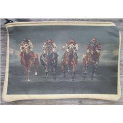 nice unique horse race leather bag