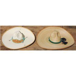 2 straw Mexican sombreros