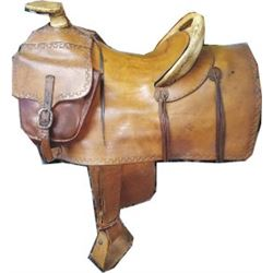 very nice Santa Fe or Texas trail saddle