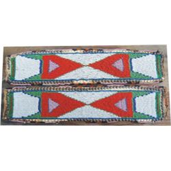 early cloth backed beaded arm bands