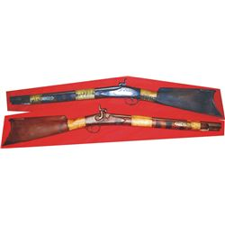neat 1840's .40 cal percussion Indian blanket gun