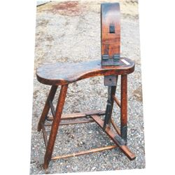 early wooden stitching horse
