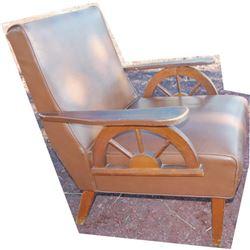 1950's wagon wheel chair