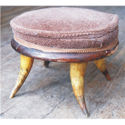 antique horn foot stool