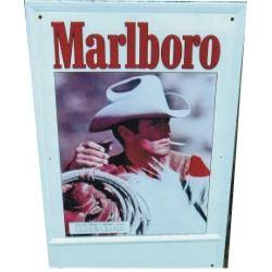 Marlboro Man advertising tin sign