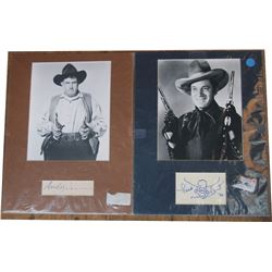 6 autographed photos of western TV characters - all with certificate of authenticity