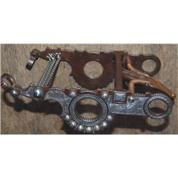 B-C silver inlaid Calif spade bit