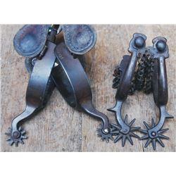 2 pairs iron spurs
